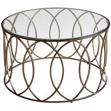 elana bronze iron round coffee table