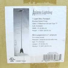 Aziano Lighting Amazon Com Aziano Lighting 1 Light Mini Pendant Brushed