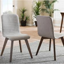 baxton studio sugar light gray fabric upholstered dining chairs set of 2