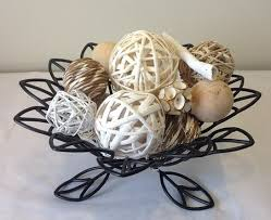 Decorative Balls For Bowl White Rattan Decorative Spheres Vase Filler And Bowl Filler 59
