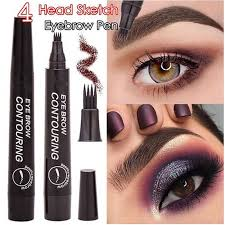 4 Colors <b>Microblading Eyebrow Tattoo Pen</b> with 4 Micro Tips Sketch ...