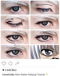 allen walker anime makeup tutorial cosplay makeup tutorial cosplay diy cosplay ideas
