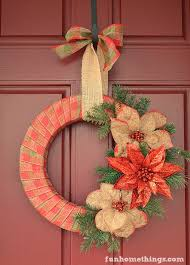 Rustic Farmhouse Ribbon Wrapped Wreath