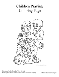 Small Picture Children Praying Coloring Page Crafting The Word Of God