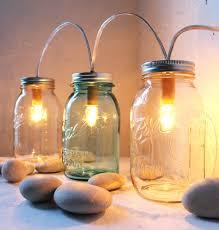 jar lighting. Mason Jar Lighting Standing Banner Lights Fixture Bootsngus From String For