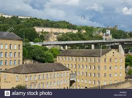 dean clough mills halifax west yorkshire england uk stock image