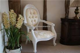 french bedroom chairs uk. chatsworth diamond chair french painted white with cream fabric bedroom chairs uk