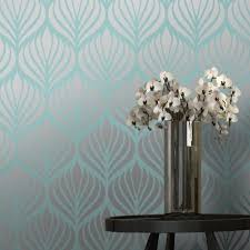 gorgeous art deco wallpaper in teal and silver on art deco living room wallpaper with pin by joann pelage on home d cor ideas pinterest teal