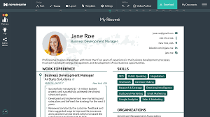Resume Builder For 2021 Free Resume Builder Novoresume