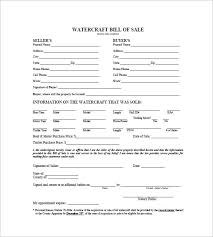 watercraft bill of sale watercraft bill of sale 8 free word excel pdf format