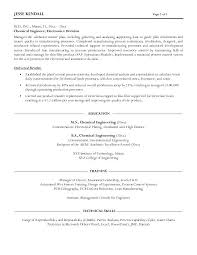 Sample Resume For Chemical Engineer Chemical Engineer Resume