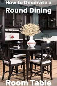 to decorate a round dining room table