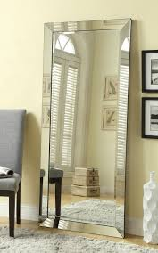 silver floor mirror. Simple Silver Coaster Furniture Silver Glass Leaning And Floor Mirror  The Classy Home Throughout