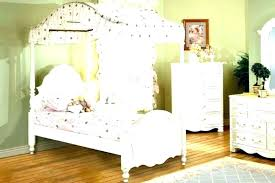 Twin Wood Canopy Bed White Full Size – fireavery