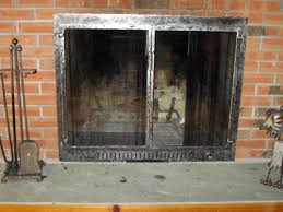 image of making a fireplace screens with glass doors