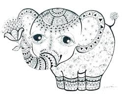 Elephant Mandala Coloring Pages Printable Kids To Print Easy Free