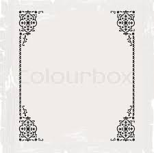 antique frame border. Calligraphic Ornate Vintage Frame Border Decorative Design, Vector Antique