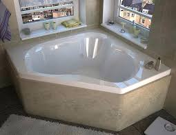 2 person jetted bathtub x corner air whirlpool with center drain by homeward bath rounded