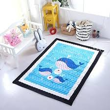 blue nursery rug modern printed area rug washable big carpet children baby crawling carpet nursery rug blue nursery