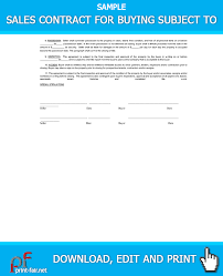 Sales Contract For Buying Subject 2 | Real Estate Forms