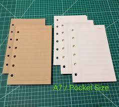 A7 Size Pocket Size Printed Planner Inserts A7 Planner Kikki K Etsy