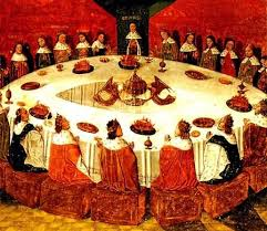 a reion of king arthur s round table evrard d espinques public domain