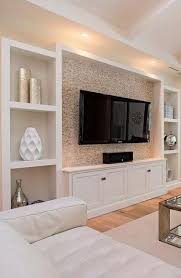 built in wall units living room wall