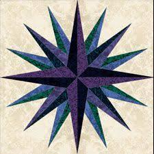 161 best Mariners compass quilts images on Pinterest | Mandalas ... & Sea of Crisis - PP - Block: 63 from Jinny Beyer Studio's free blocks Adamdwight.com