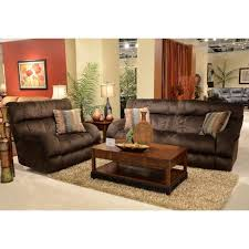 catnapper siesta lay flat power reclining fabric sofa set in chocolate 6176 12 072 68109275143 pkg