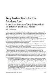 Nc Pattern Jury Instructions Cool Jury Instructions For The Modern Age By Reynolds National Center For