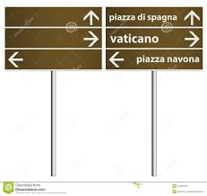 Signboard Template Rome Italy City Signboard Template Illustration 41081582 Megapixl