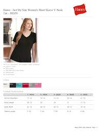 Just My Size Size Chart Hanes Jms30 Just My Size Womens Short Sleeve V Neck Tee