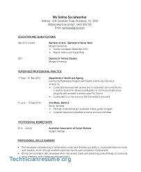 Social Work Resume Sample Medical Worker Resume Social Work Resume ...