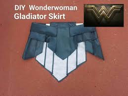 Wonder Woman Costume Pattern Beauteous DIY Wonder Woman Gladiator Skirt Wonder Woman Cosplay Part 48 YouTube