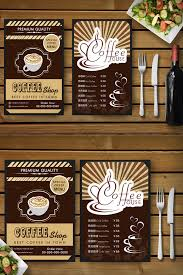 Cafe Menu Template High End Minimalist Cafe Menu Template Template Ai Free