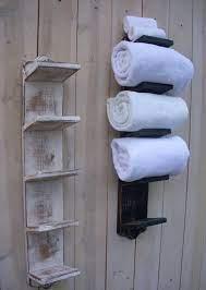 rustic towels bathroom towel storage