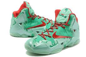 lebron green. cheap nike lebron 11 christmas green red