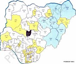 photo see the new map of nigeria as proposed by the national