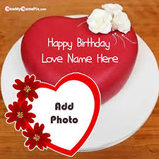 lover name wishes happy birthday cake