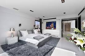 Modern Grey Bedroom Flat Bedroom Designs