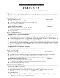 Sample Resume For Fresh Graduate Chemical Engineering Save Example