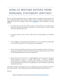 Resume Writer Direct How CV Writing Differs From Personal Statement Writing Resume 19