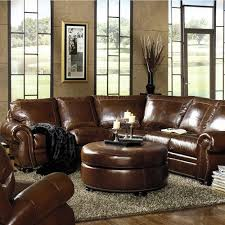 traditional leather living room furniture. Traditional Leather Sectional With Paisley Embossed And Nailhead Trim From USA Premium #furniture. Vintage LeatherLiving Room Living Furniture T