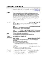 downloadable sample resume