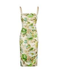Dolce Gabbana Floral Bra Insert Dress