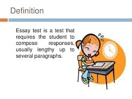 essay type test definition