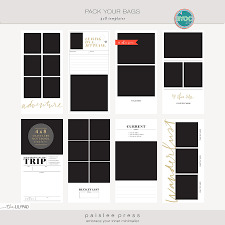 Notebook Templates Pack Your Bags 4x8 Travelers Notebook Templates By Paislee Press