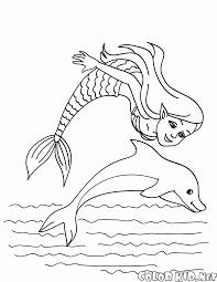 Disegni Da Colorare La Sirenetta E Il Delfino