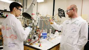 chemistry research harvey mudd college prof vosburg and student