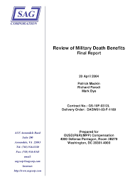 Osd Obligation And Expenditure Goals Chart Sag Death Benefits Osd Study 2004